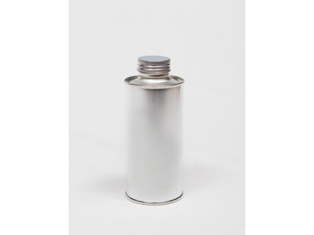 METAL container with srew on lid 200 ml
