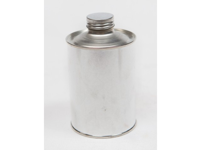 METAL container with screw on lid 500 ml