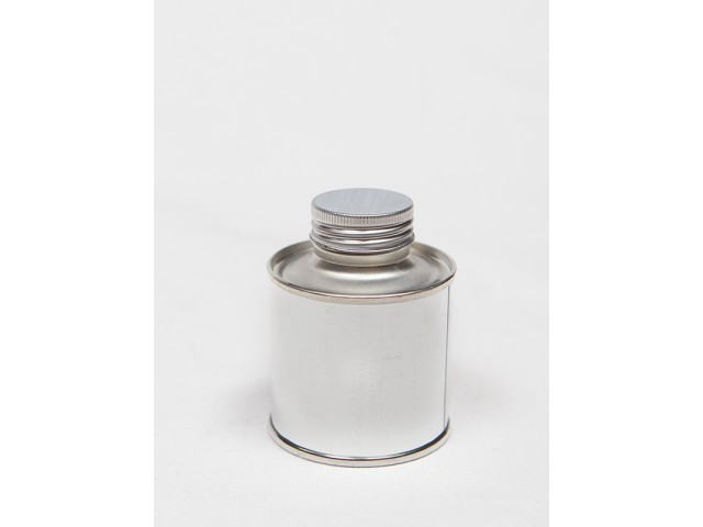 METAL container with srew on lid 100 ml
