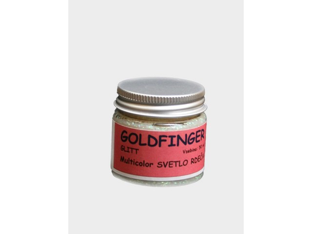 Goldfinger Glit, multicolor svetlo rdeča 50 ml