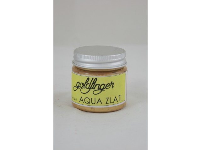GOLDFINGER AQUA GOLD gilders WATER BASED wax paste   50 ml