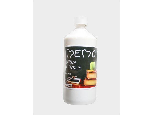 memo barva za table bela 1000 ml. Black Bedroom Furniture Sets. Home Design Ideas