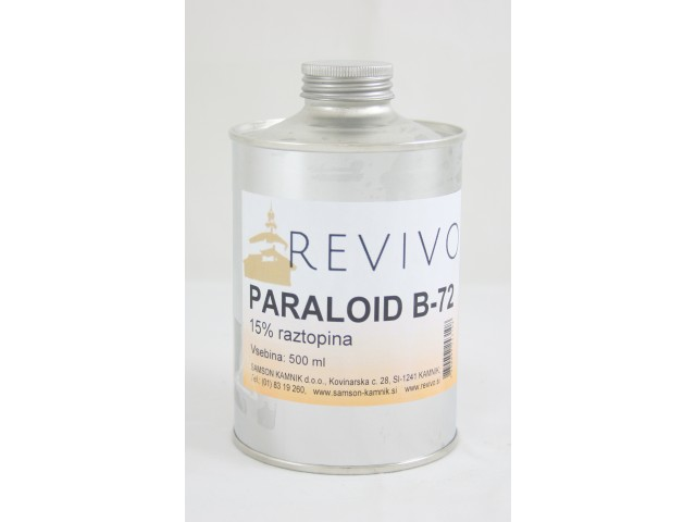 PARALOID B 72 acrylic resin in ethyl acetate, 15 % 500 ml