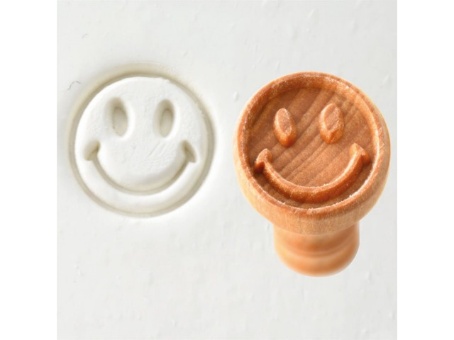 Wooden stamp SMILEY FACE