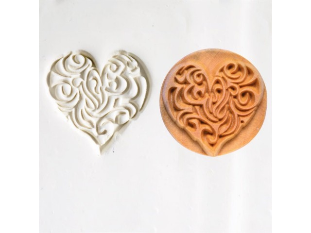 Wooden stamp HEART
