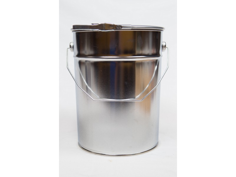 METAL bucket with lid 10 l